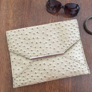 🆕 Textured Faux Leather Envelope Clutch